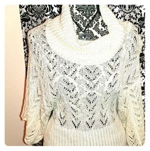Off white cowl neck sweater size large